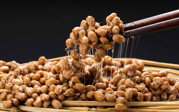 Natto, Fermented soybeans, Japanese healthy traditional food.